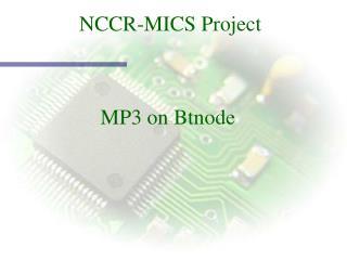 NCCR-MICS Project