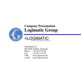 Company Presentation  Logimatic Group
