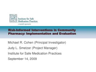 Risk-Informed Interventions in Community Pharmacy: Implementation and Evaluation