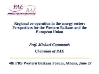 4th PRS Western Balkans Forum, Athens, June 27