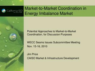 Market-to-Market Coordination in Energy Imbalance Market