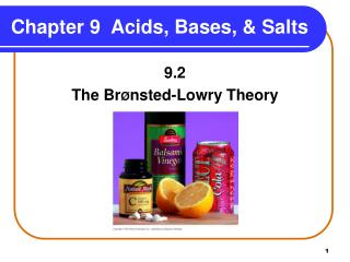 Chapter 9  Acids, Bases, & Salts