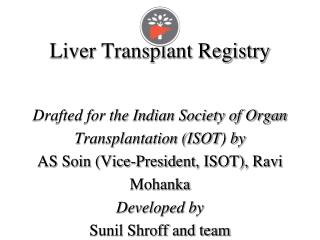 ISOT (Indian Society of Organ Transplantation)