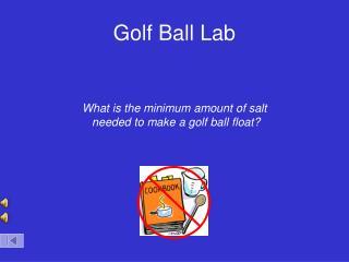 Golf Ball Lab