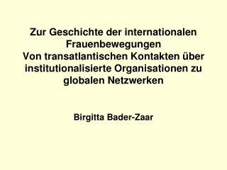 Birgitta Bader-Zaar