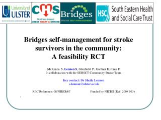 Bridges self-management for stroke survivors in the community:  A feasibility RCT