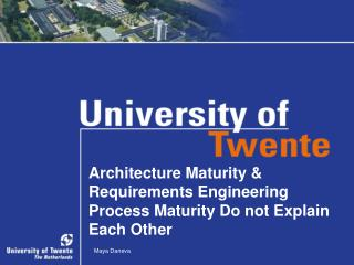 Architecture Maturity & Requirements Engineering Process Maturity Do not Explain Each Other