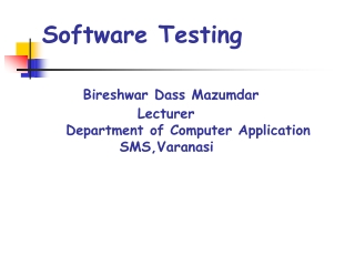 Objectives of Test Planning