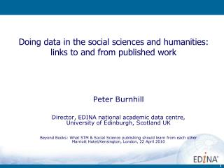 Doing data in the social sciences and humanities: links to and from published work