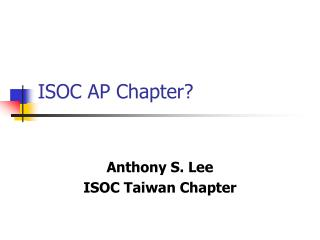 ISOC AP Chapter?