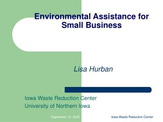 Environmental Assistance for Small Business