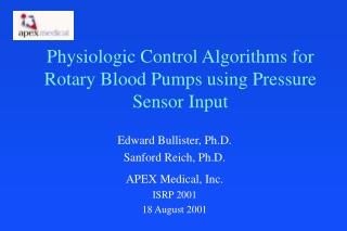 Physiologic Control Algorithms for Rotary Blood Pumps using Pressure Sensor Input
