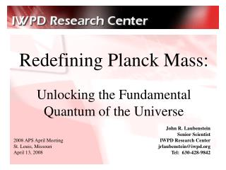 Redefining Planck Mass: Unlocking the Fundamental Quantum of the Universe