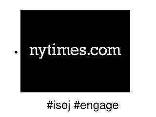#isoj #engage