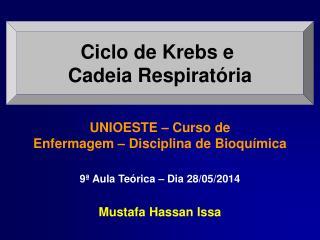 Ciclo de Krebs e  Cadeia Respiratória
