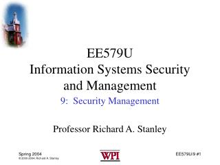 EE579U Information Systems Security and Management