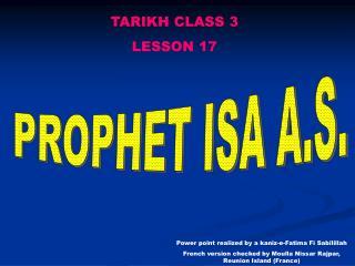 TARIKH CLASS 3 LE SSON 17