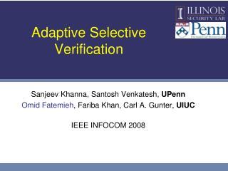 Adaptive Selective Verification