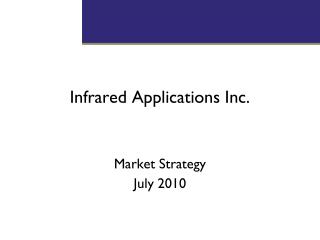 Infrared Applications Inc.