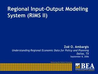 Regional Input-Output Modeling System RIMS II