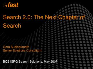 Search 2.0: The Next Chapter of Search