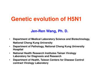 Genetic evolution of H5N1