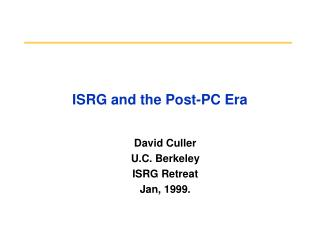 ISRG and the Post-PC Era