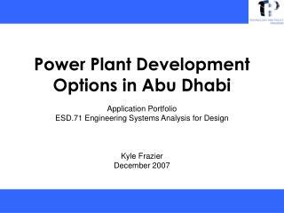 Power Plant Development Options in Abu Dhabi