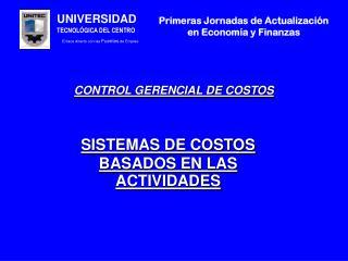 CONTROL GERENCIAL DE COSTOS