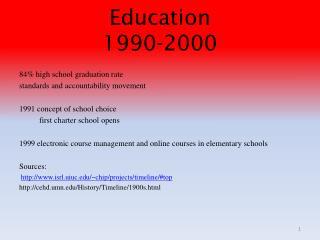 Education 1990-2000