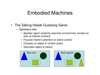 Embodied Machines