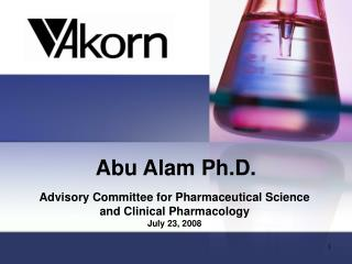 Abu Alam Ph.D.