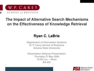 The Impact of Alternative Search Mechanisms on the Effectiveness of Knowledge Retrieval