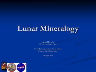 Lunar Mineralogy