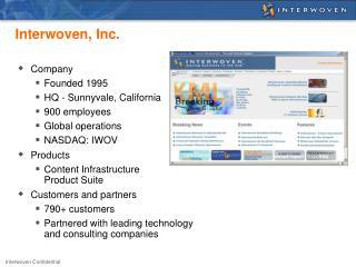 Interwoven, Inc.