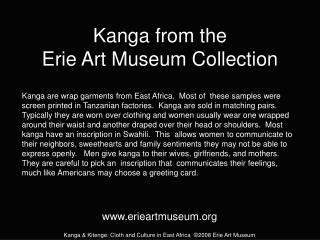Kanga from the  Erie Art Museum Collection