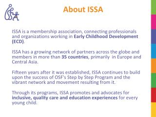 About ISSA