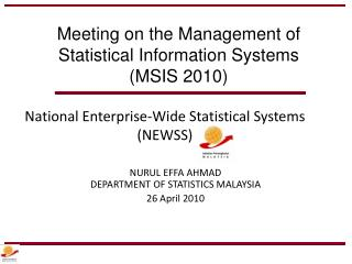 National Enterprise-Wide Statistical Systems (NEWSS)