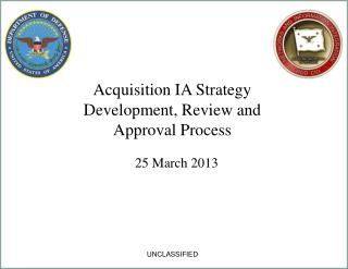 Acquisition IA Strategy Development, Review and Approval Process