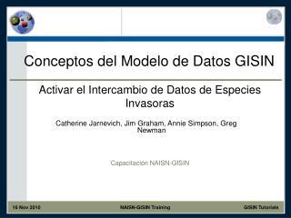 Conceptos del Modelo de Datos GISIN