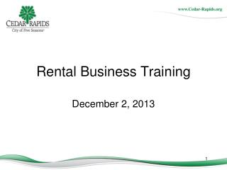 Rental Business Training