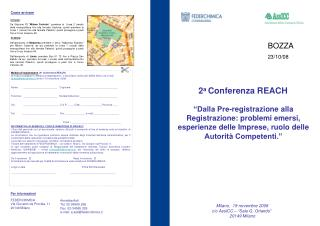 2 a  Conferenza REACH