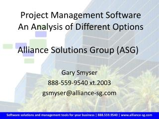 Alliance Solutions Group (ASG)