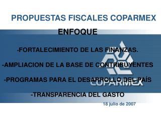 PROPUESTAS FISCALES COPARMEX