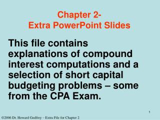 Chapter 2- Extra PowerPoint Slides