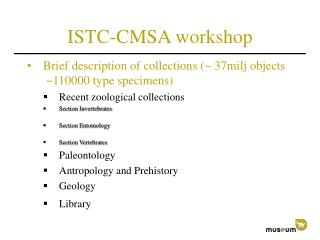 ISTC-CMSA workshop