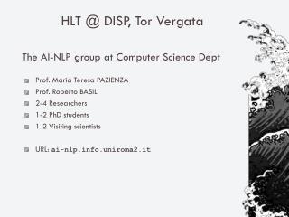 HLT @ DISP, Tor Vergata