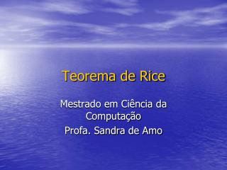 Teorema de Rice