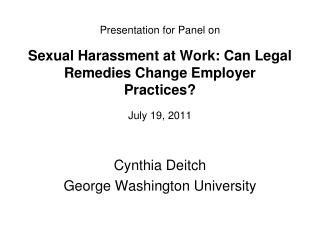 Cynthia Deitch George Washington University