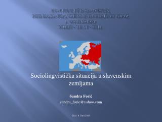 Institut f�r Slawistik  der Karl-Franzens-Universit�t Graz 1. Workshop Wort - Text - Stil